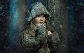 Picture winter, snow, girl, Sonia