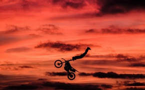 Picture jump, motorcycle, Stunt Rider