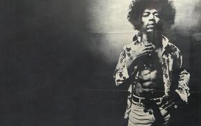 Picture shirt, strap, black and white photo, pants, Jimi, Hendrix, Jimi, Hendricks