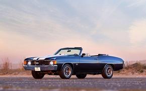 Picture auto, Chevrolet, wallpaper, Chevrolet, auto, muscle car, 454, Chevelle, Convertible, 1972, Malibu