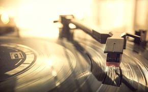 Wallpaper macro, vinyl, record player