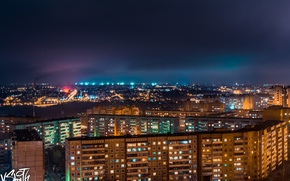 Picture the sky, light, the city, home, light, house, sky, city, Vladimir Smith, Vladimir Smith, Kaluga, ...