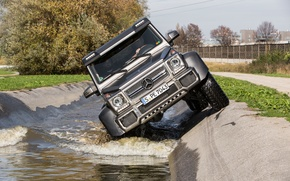 Picture water, SUV, Mercedes, AMG, G63, 6x6