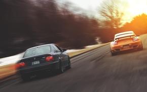 Picture bmw, 911, porshe, speed, run