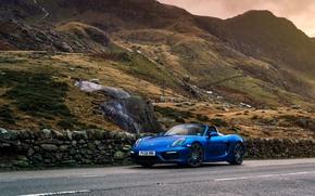 Picture mountains, Porsche, Cayman, GTS