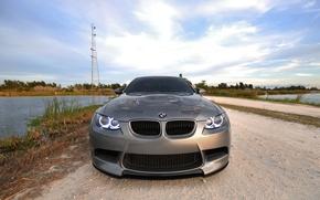 Wallpaper angel eyes, tower, water, BMW