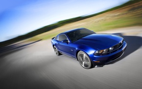 Picture Road, mustang, blur, ford, muscle car