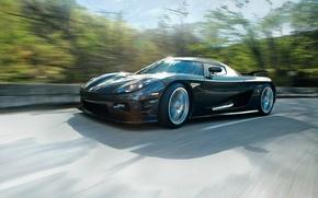 Picture speed, turn, supercar, koenigsegg, ccxr, biokar
