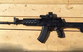 "Picture development, sample 2015, AK-12 Kalashnikov assault rifle, concern ""Kalashnikov""."
