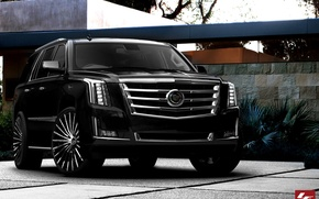 Picture Cadillac, Escalade, black, tuning, 2015