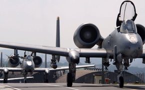 Picture Fairchild, Thunderbolt II, American single twin-engine attack aircraft, Warthog, Republic A-10