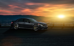 Picture Mercedes-Benz, Nature, Sky, Front, California, Motorsport, Summer, Sonic, E63, Ligth, Nigth, AMG S