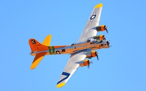 Picture the sky, flight, the plane, color, bomber, Boeing, B-17, flying fortress, Flying Fortress