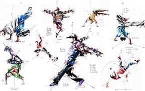 Picture style, paint, colors, dancing, style, math, illustration, dance, freeze, Florian Nicole, Florian Nicolle, illustration, break …