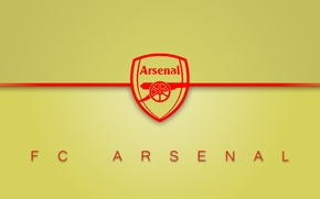Wallpaper minimalism, arsenal, football, logo