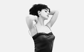Picture white, Wallpaper, black, Monica, Bellucci