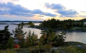 Picture landscape, nature, river, Russia, Karelia, Karelia