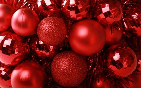 Picture Red, Balls, Tinsel