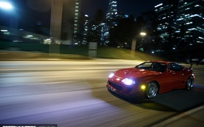 Picture turbo, red, supra, japan, toyota, muscle, jdm, tuning, power, race, speed