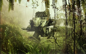 Picture machine, weapons, jungle, Stardriver