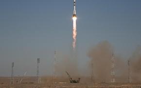 Wallpaper Soyuz TMA-16, start, rocket