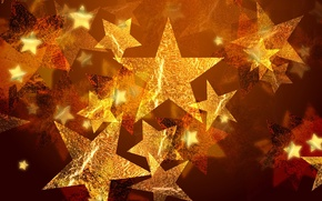 Picture stars, gold, holiday