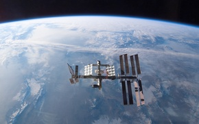 Picture earth, planet, station, orbit