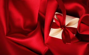 Wallpaper silk, red, gift, Valentine's Day, love, romantic, love, heart
