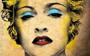 Wallpaper Madonna, style, texture, aging, face, singer