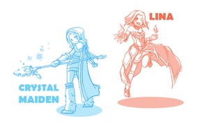 Picture game, girls, game, DotA 2, Defense of the Ancients, Dota 2, lina, crystal maiden