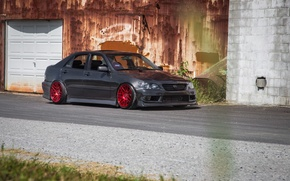 Picture turbo, lexus, red, wheels, black, japan, toyota, jdm, tuning, Lexus, front, Toyota, face, low, height, …