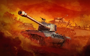 Picture WoT, Is-7, World of Tanks, PzKpfw VI Tiger, World Of Tanks, Wargaming Net, M46 Patton, …