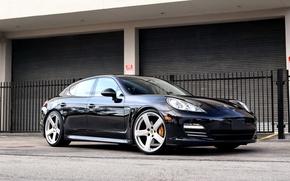 Picture Porsche, Dark, Panamera, Blue