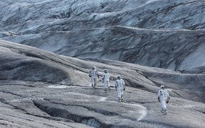 Picture fiction, planet, the suit, the astronauts, Interstellar, Interstellar