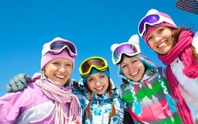 Picture winter, mountain, fun, recreation
