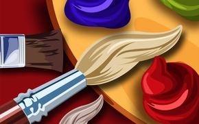 Picture figure, paint, artist, palette, painting, brush