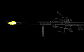 Wallpaper weapons, shot, optics, sniper rifle