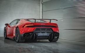 Picture car, auto, Lamborghini, red, Vorsteiner, Lamborghini, Huracan, Novara