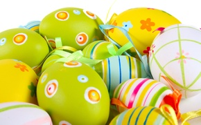 Wallpaper strips, holiday, patterns, Easter eggs, bright colors, Easter