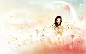 Wallpaper the wind, bird, Love