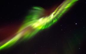 Picture the sky, stars, Northern lights, Skaftafell, Massive aurora
