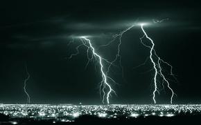 Wallpaper night, photo, element, Lightning