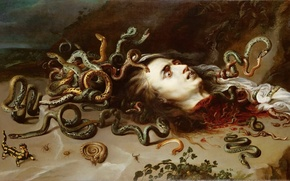 Picture Medusa, picture, Peter Paul Rubens, The Head of Medusa, Peter Paul Rubens