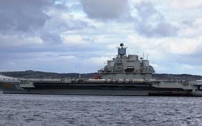 "Picture Navy, cruiser, aircraft carrier, Heavy, The Northern Fleet, ""Admiral Kuznetsov"""