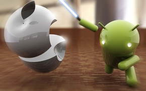 Picture apple, Apple, sword, Android, android