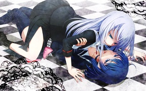 Picture anime girls, Yuri, Erotica