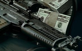 Picture weapons, money, Wallpaper