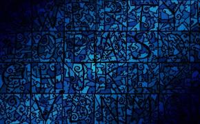 Wallpaper blue, mosaic, desktop, pattern, flat, jaw