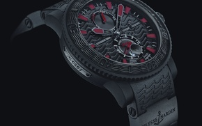 Picture watch, Watch, Maison Horlogere, ULYSSE NARDIN, Black Sea