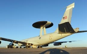 Picture Boeing, the airfield, AWACS, AWACS aircraft, Tinker Air Force Base, E-3 Sentry